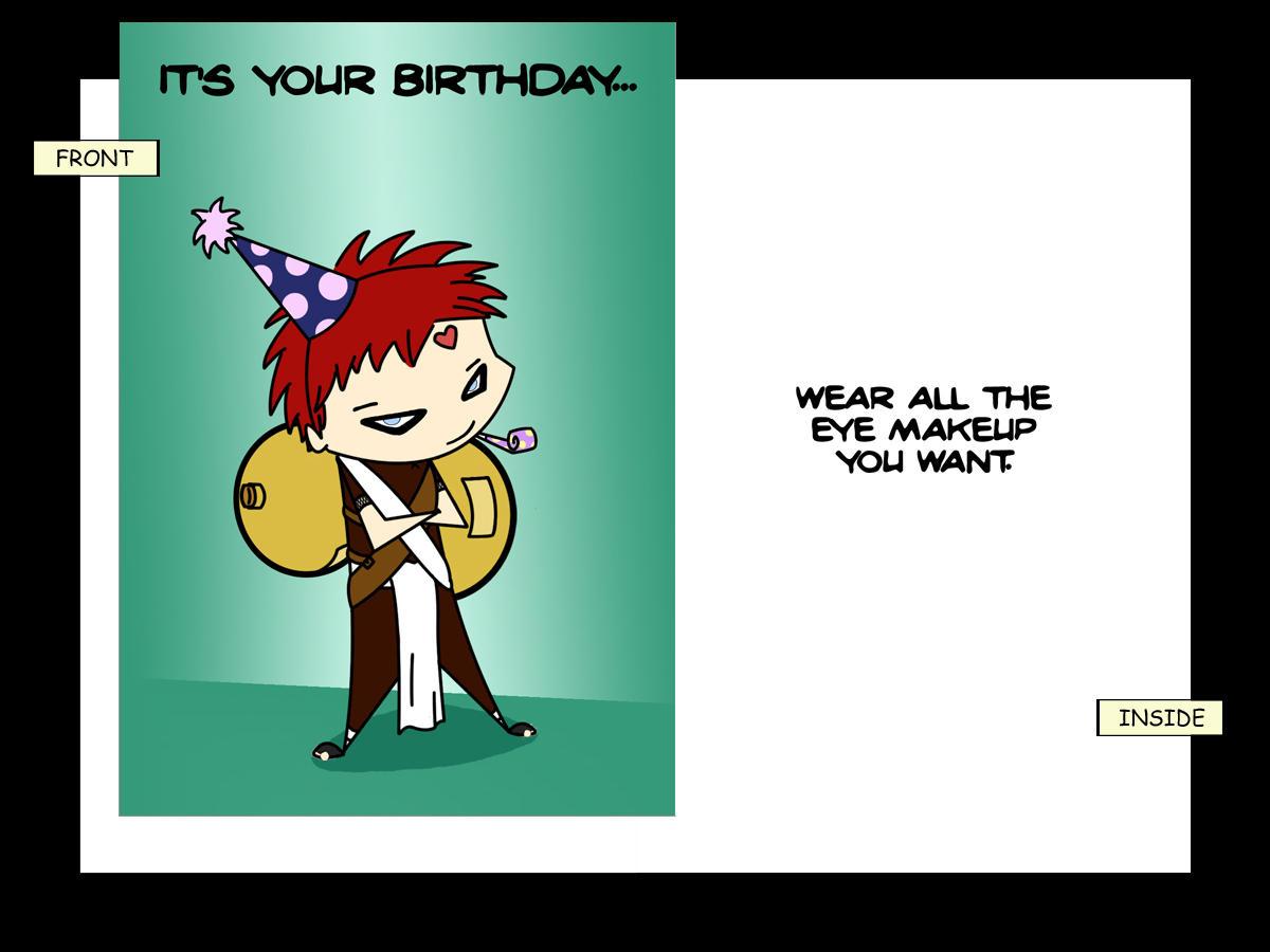 Gaara Birthday Card By Rakshar