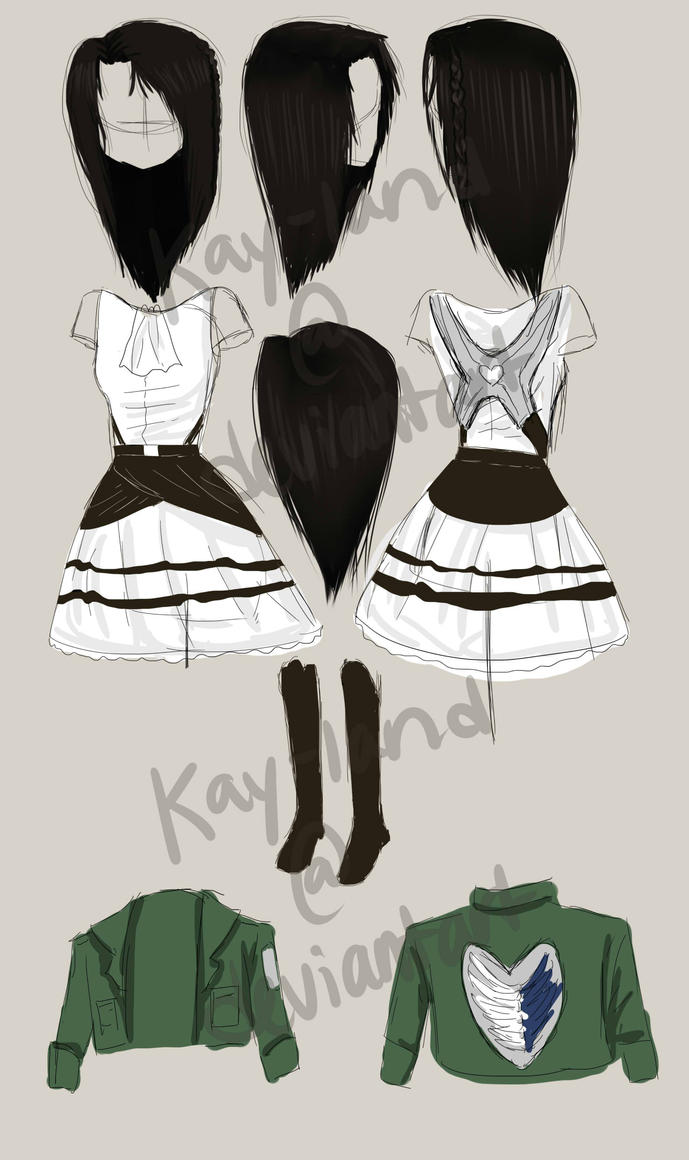 Female Levi Rivaille Costume/Cosplay Sketch Design by Kay-land