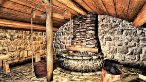 Northwind Cabin: Basement Forge and Heated Floor