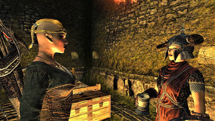 Bosmer and Nord Sister-in-Law at Fort Cuptor by FemaleBosmerAlways