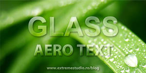How to Create a Aero Glass Text in Photoshop CS5