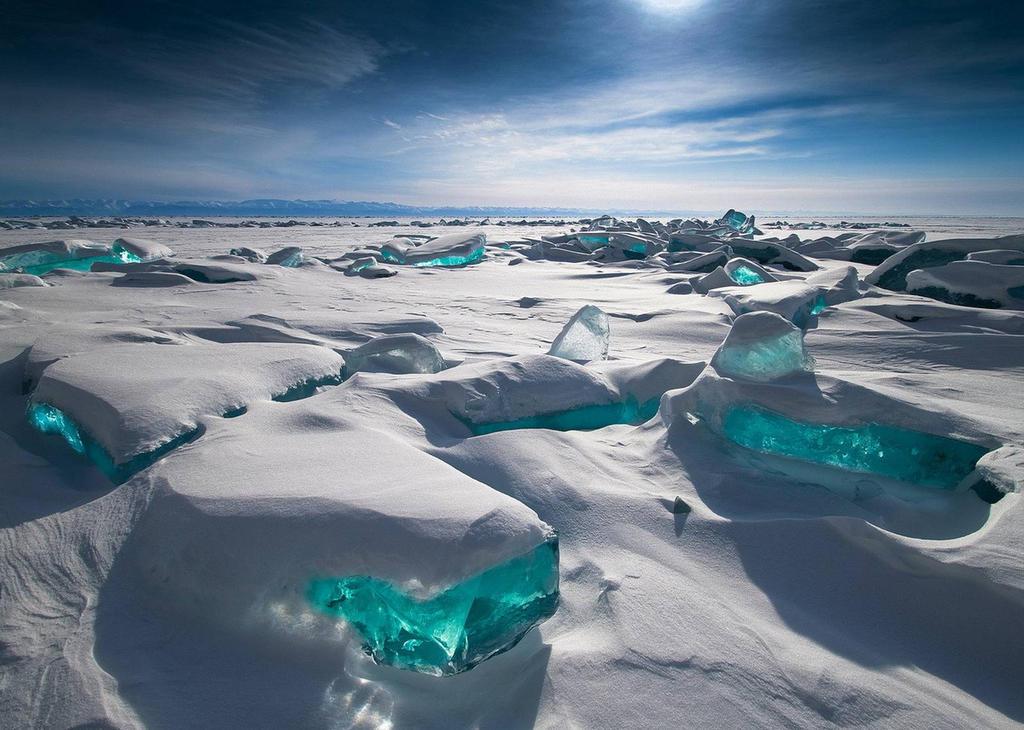 Turquoise Ice Northern Lake Baikal / Russia