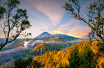 Pasuruan Mountains in Indonesia