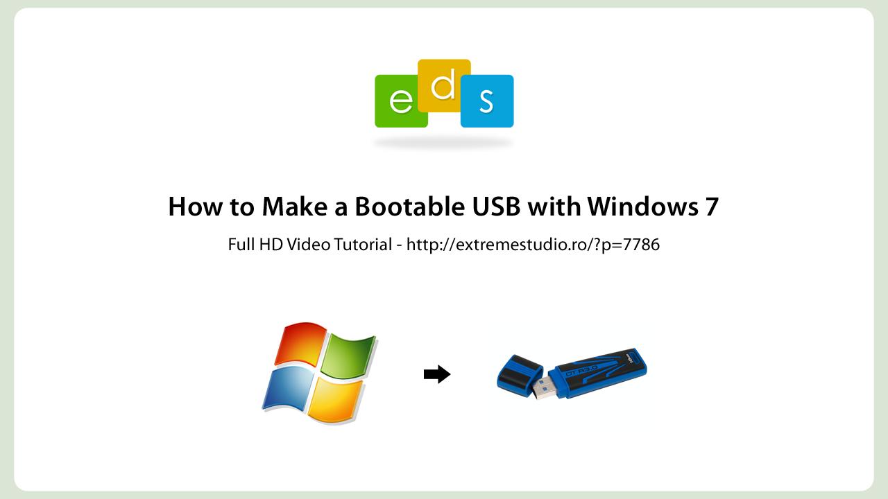 windows 7 how to make dos bootable usb