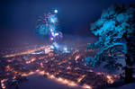 Kufstein New Year Fireworks by eds-danny