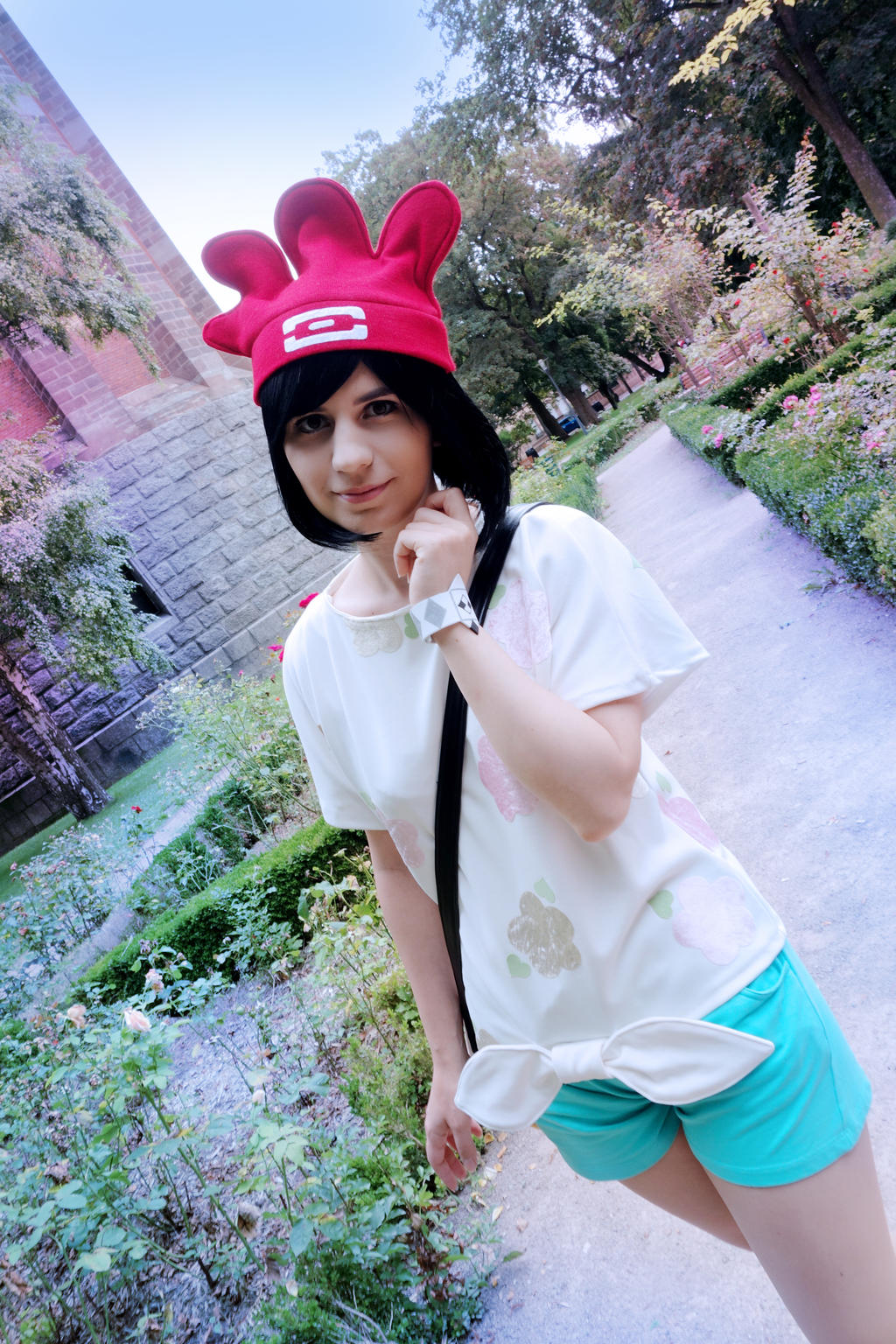Pokemon moon trainer cosplay