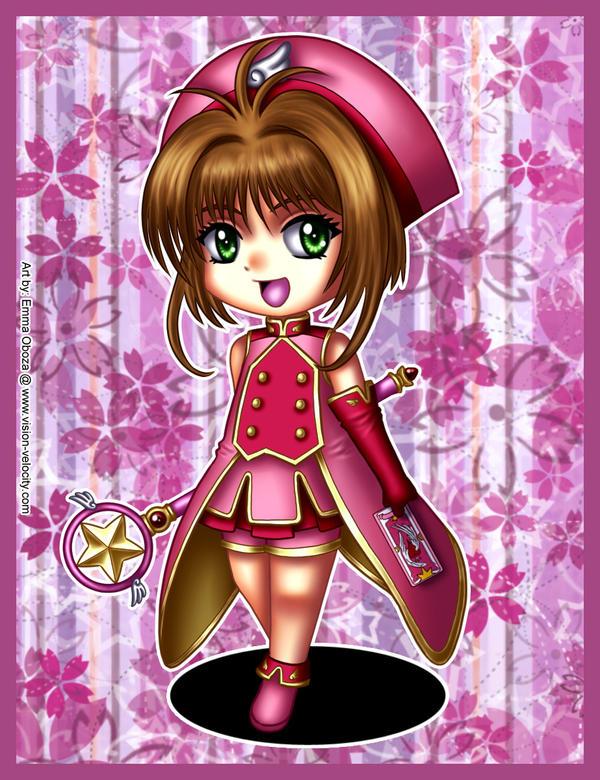 Fanart - Sakura Kinomoto chibi by VisionVelocity