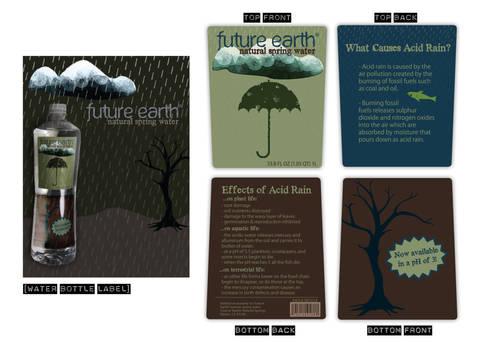 Future Earth - bottle label