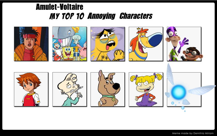 9 Most Annoying Cartoon Characters : My top annoying characters by amulet voltaire on deviantart