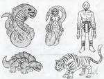 Mythical God beasts