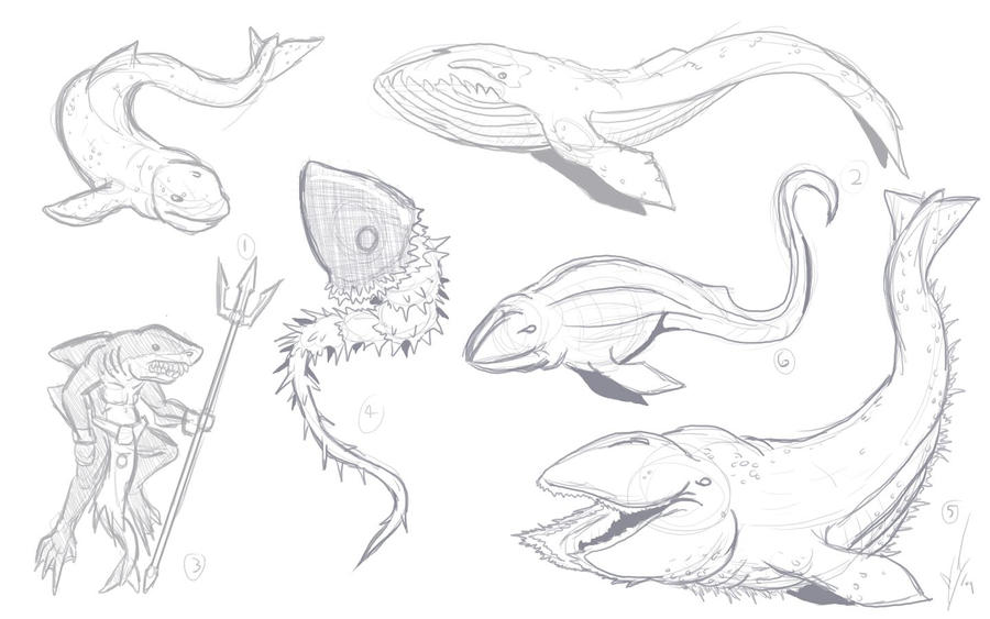 Sea Monsters 5 by Drag...