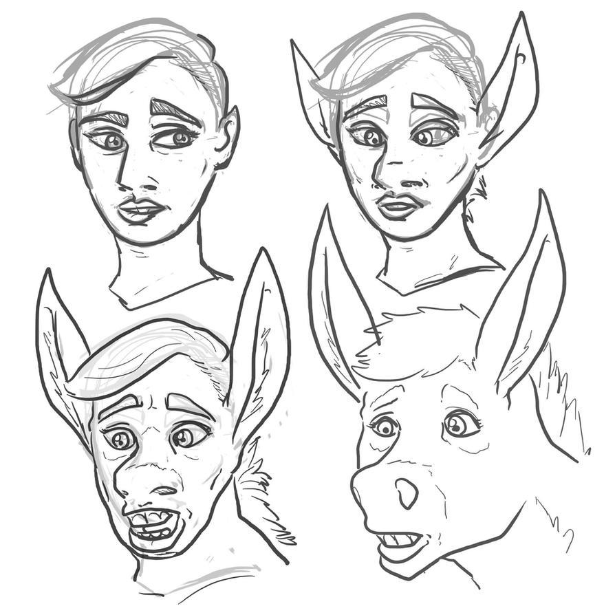 Scarjo donkey TF by Dragon-Storm