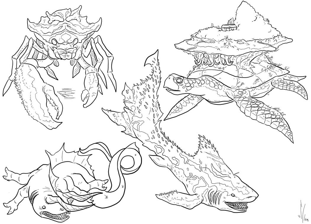 Sea Monsters 3 Redo by Dragon-Storm