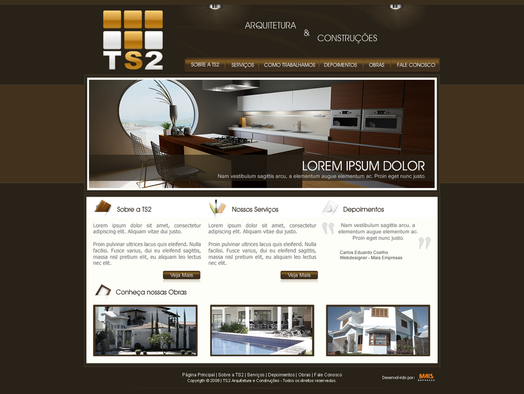 ts2 arquitetura e const by kaedesign d34gxmn Creatively Inspired Web Interface Designs