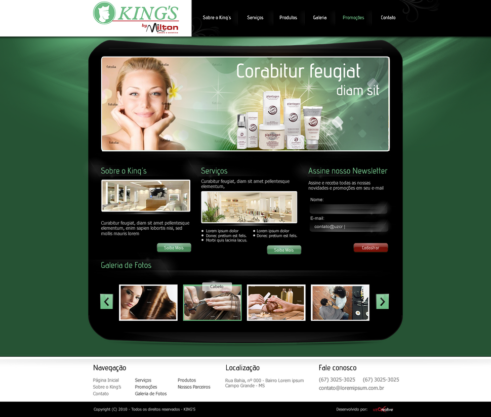 kings cabelereiros by kaedesign d39hf1w Web Interface Roundup of Web Design Inspiration
