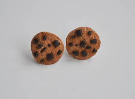 Chocolate Chip Cookie Earrings by yobanda