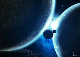 Planets Gemini by jakeandersonstudio