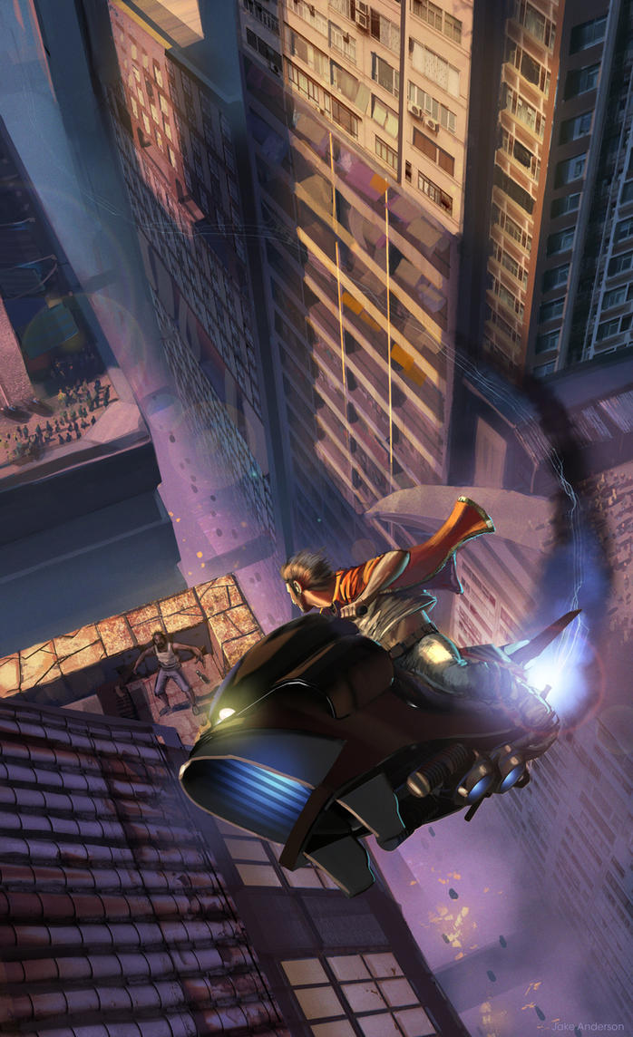 Race Through City by jakeandersonstudio