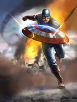 Captain America by jakeandersonstudio