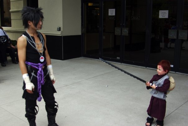 Rocker Sasuke vs Chibi Gaara?? by EvolMaxiel