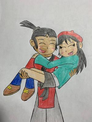 Kaibow carrying Adeleine