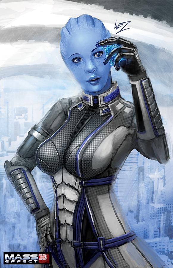 Mass Effect - Liara T'Soni by W-E-Z