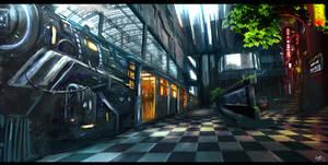 Aenigma - Jonada Train Station - Concept Art