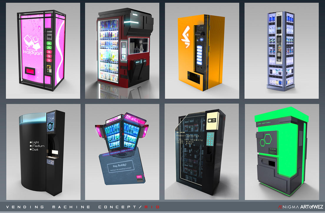 futuristic vending machine