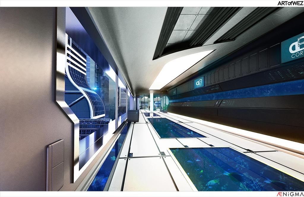 AENiGMA - DB Corp hallway (Process video included) by W-E-Z