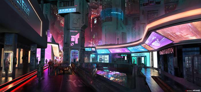 AENiGMA - Cyberpunk Concept Art