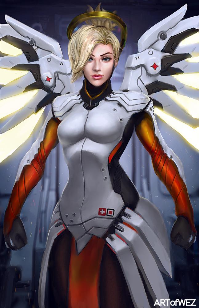 Overwatch - Mercy by W-E-Z