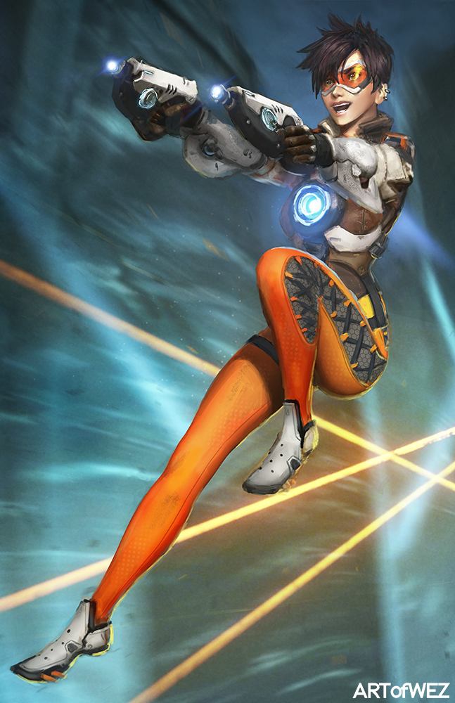 Overwatch - Tracer by W-E-Z
