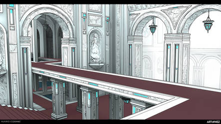 Hard Cosmic - Baroque Arena Concept by W-E-Z