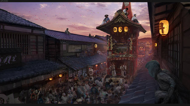 Assassin's Creed Japan Concept Art - Gion Festival