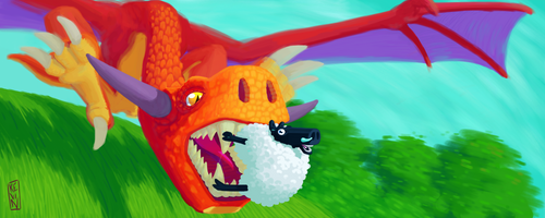 Dragon-et-mouton by TrucEtBidule