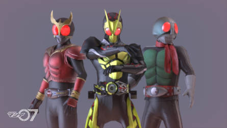 New Era of Kamen Rider by Matsui07