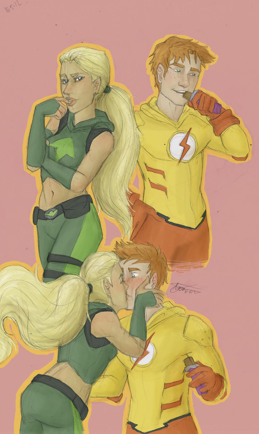 wally and artemis by may12324 on DeviantArt