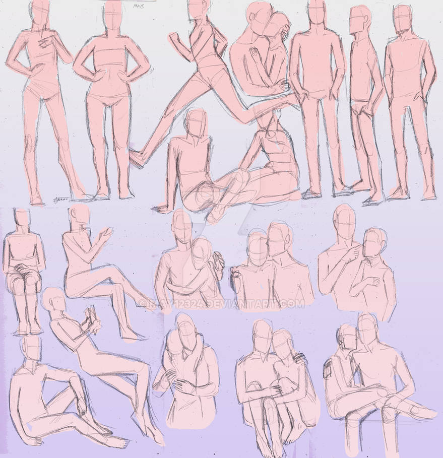 Couple Poses And Other Random Ones By May12324 On Deviantart