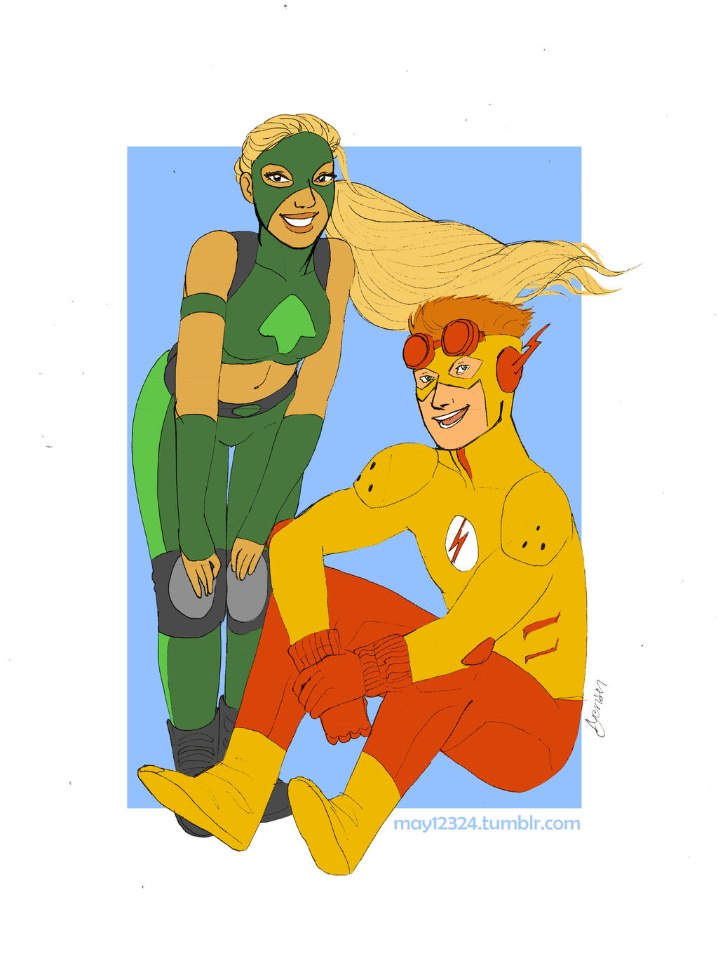 kid flash and artemis by may12324 on DeviantArt