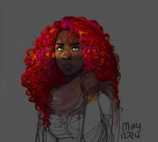 Lady fire by may12324