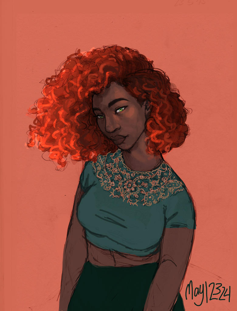 Modern Lady Fire by may12324