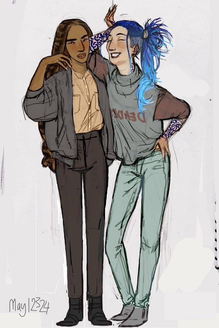 Nanu and Karou by may12324