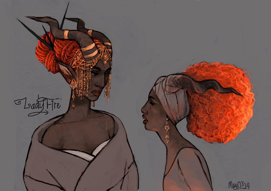 Horned Lady Fire by may12324