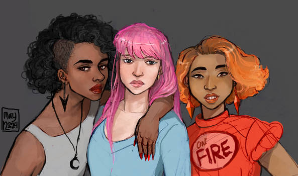 Human Marceline, Bonnibel, and Flame Princess