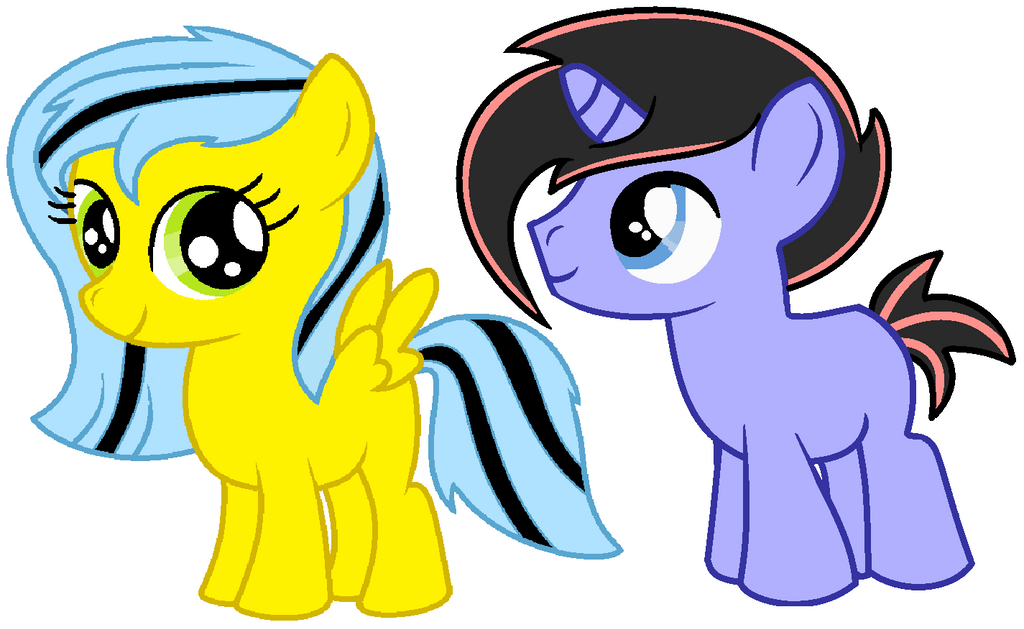 Filly and Colt (edit) by SpirittheHedgehog333