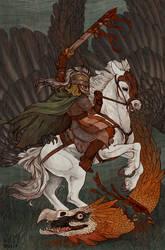 Eowyn and the Fellbeast by Pimsri