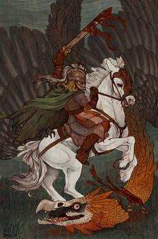 Eowyn and the Fellbeast