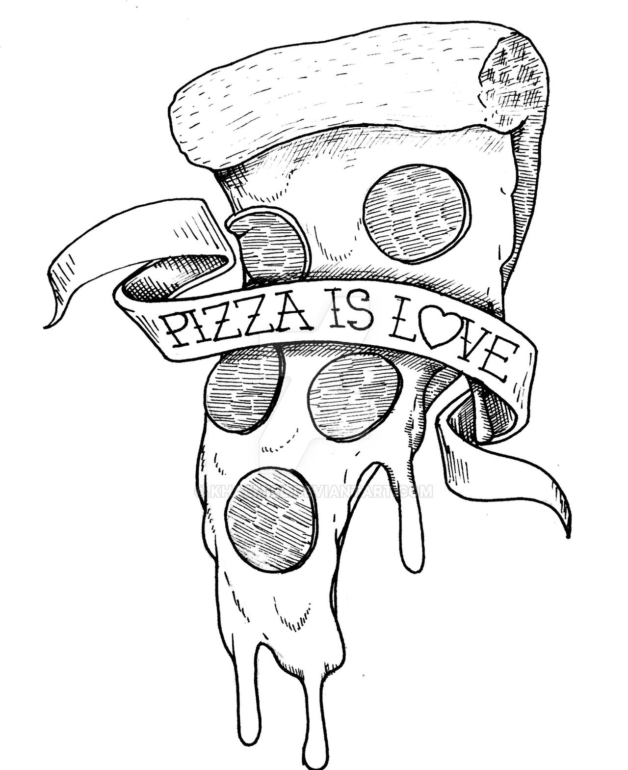 Tattoo pizza This local