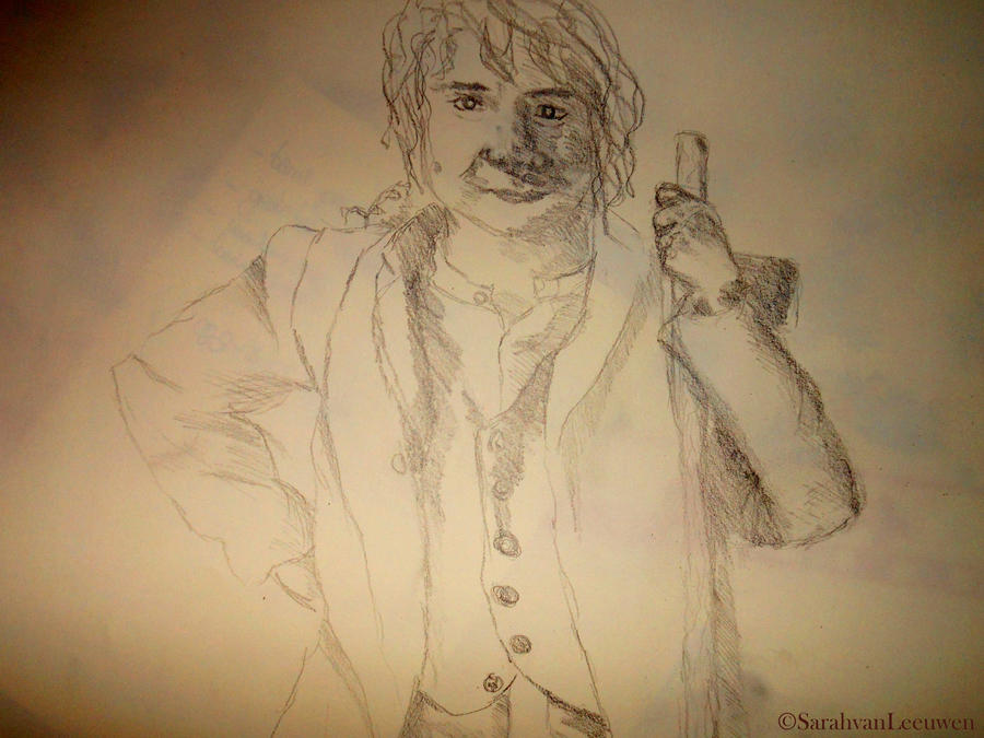 Bilbo Baggins -Sketch- by SarahMinishCap