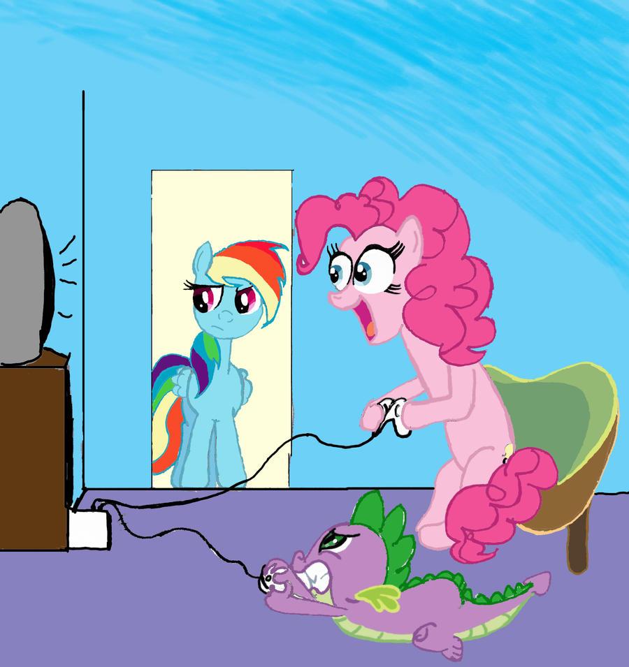 Spike vs. Pinkie Pie: Video Game Brawl! by lefthoovesdash ...